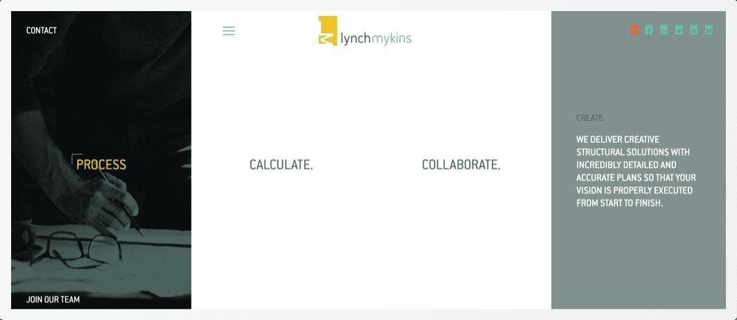 LM website screen