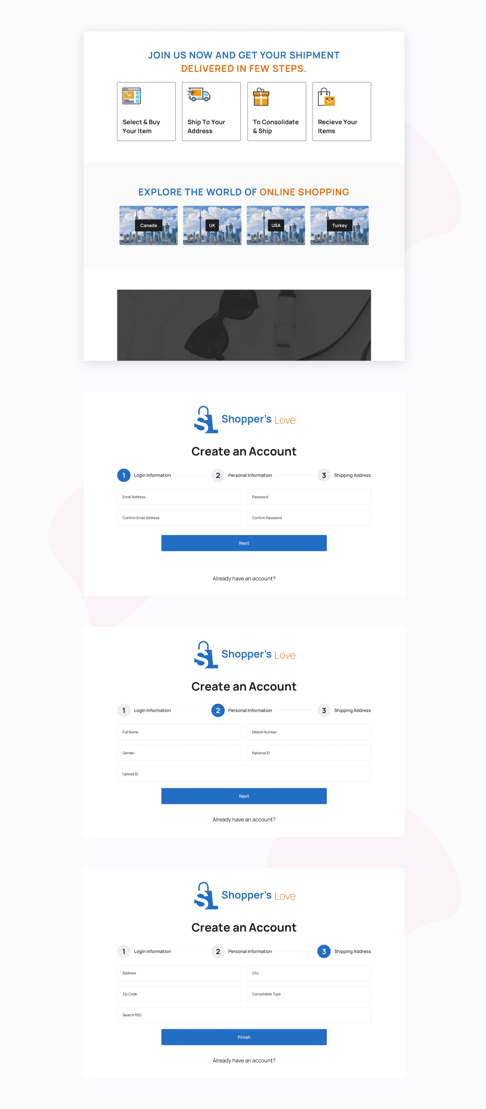 Shopper Screen